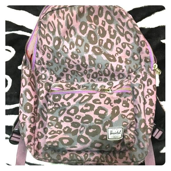 various colors cute cheap the sale of shoes Purple leopard print Herschel backpack